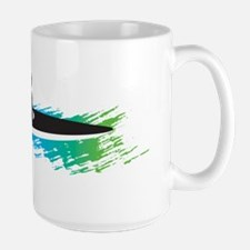 kayak simple black Mug