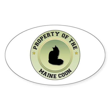 Coon Property Oval Sticker