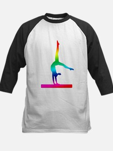 Flip Flop Rainbow Gymnast Baseball Jersey