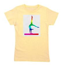 Flip Flop Rainbow Gymnast Girl's Tee