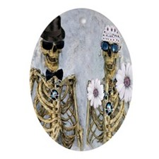 Mr  Mrs Skully Oval Ornament