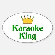 Karaoke King Oval Decal