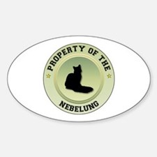 Nebelung Property Oval Decal