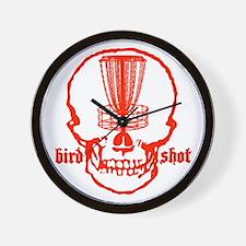 Skull Catcher Red Wall Clock
