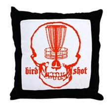 Skull Catcher Red Throw Pillow