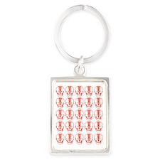 Many Mini Skull Catchers Red Portrait Keychain