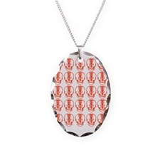 Many Mini Skull Catchers Red Necklace