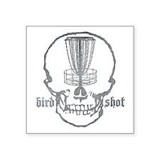 "Skull Catcher Metallic Square Sticker 3"" x 3"""