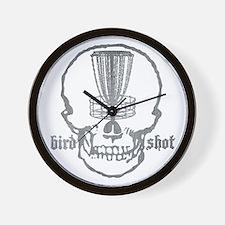 Skull Catcher Metallic Wall Clock