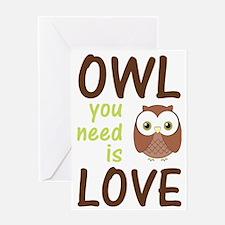 owlyouneedislove Greeting Card