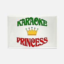 Karaoke Princess Rectangle Magnet