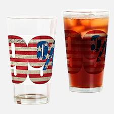 99% Yard Sign Drinking Glass