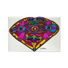 410 Heart Rectangle Magnet