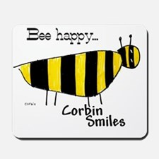 716 Bee Happy back of Tee Shirt Mousepad