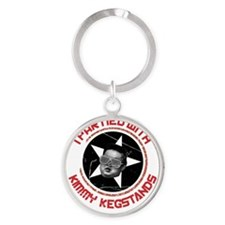 kimmy kegstands_FINAL ART FOR SHIRT Round Keychain