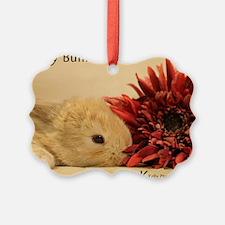 Baby Bunny Calendar Cover Ornament