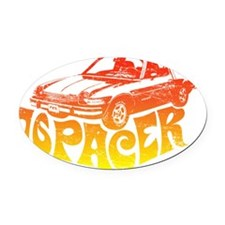 76pacer Oval Car Magnet