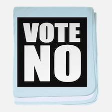 Vote No baby blanket