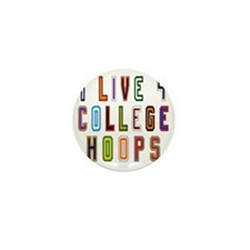 Live For College Hoops, Basketball Mini Button
