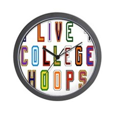 Live For College Hoops, Basketball Wall Clock