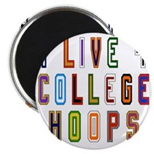 Live For College Hoops, Basketball Magnet