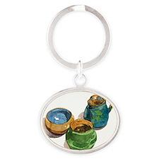 ceramic@9x12 Oval Keychain