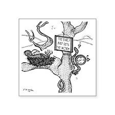 "2044_bird_cartoon Square Sticker 3"" x 3"""