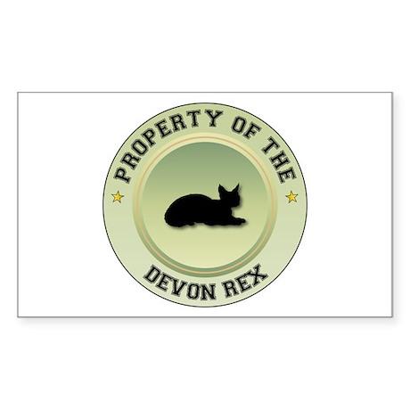 Devon Rex Property Rectangle Sticker
