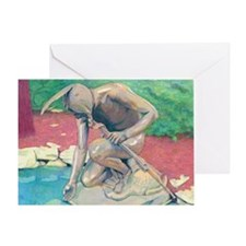 indian@9x12 Greeting Card