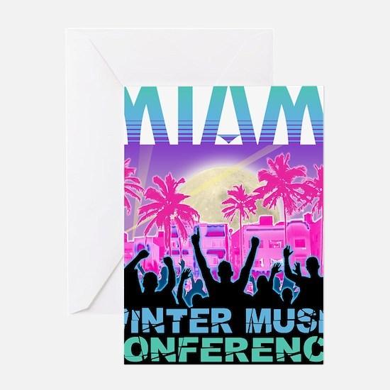 miami-wmc-collins-light Greeting Card