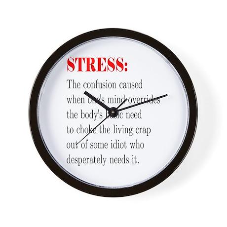 Stress Wall Clock