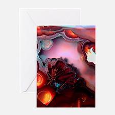 Fire-Agate-Quartz-iPad 2 Greeting Card
