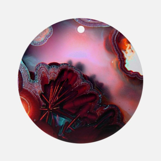Fire-Agate-Quartz-iPad 2 Round Ornament