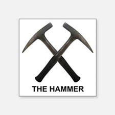 "The Hammer Light Square Sticker 3"" x 3"""