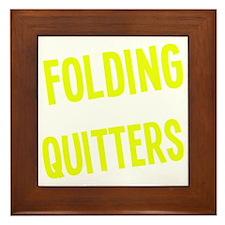 foldingisforquit Framed Tile