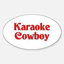 Karaoke Cowboy Oval Decal