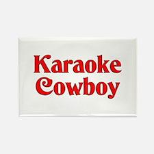 Karaoke Cowboy Rectangle Magnet