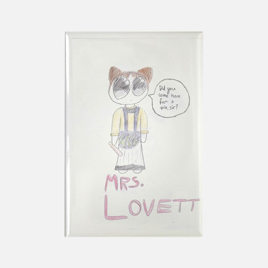 Mrs. Lovett Chibi (HD) Rectangle Magnet
