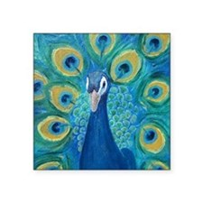 "peacock_pack Square Sticker 3"" x 3"""