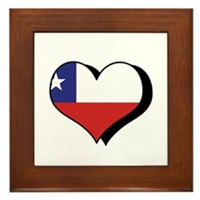 I Love Chile Framed Tile