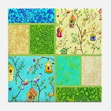 tweet collage Tile Coaster