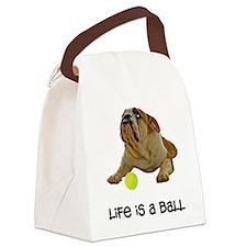 Bulldog Life Canvas Lunch Bag