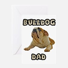 Bulldog Dad Greeting Card