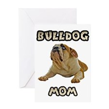Bulldog Mom Greeting Card