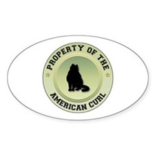 Curl Property Oval Decal