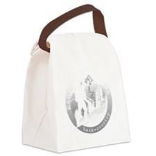 earn your turns white Canvas Lunch Bag