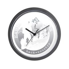 earn your turns white Wall Clock