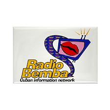 "Radio Bemba ""Big Mouth"" Rectangle Magnet"