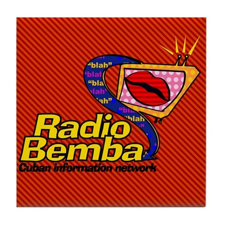 "Radio Bemba ""Big Mouth"" Tile Coaster"