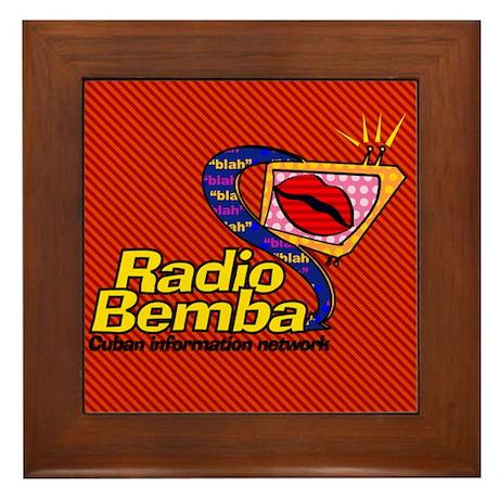 """Radio Bemba """"Big Mouth"""" Framed Tile"""